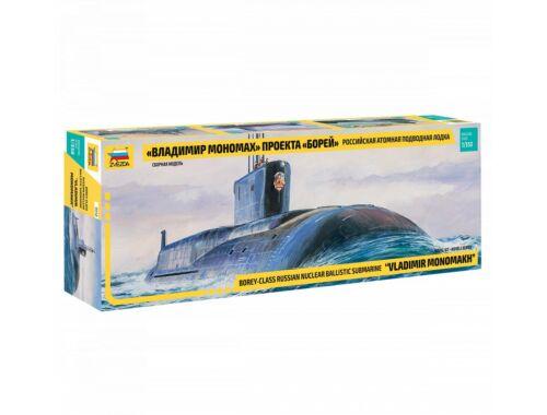 Zvezda SSBN Borey Nuc. Submarine 1:350 (9058)