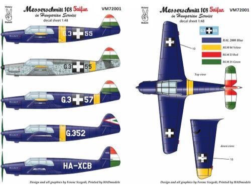 Victory Me 108 Taifun in Hun service matrica 1:72 (72001)