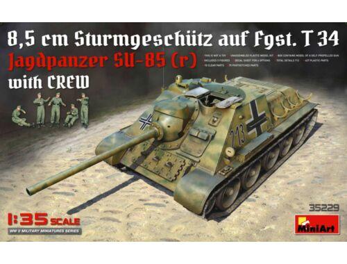Miniart Jagdpanzer SU-85 (r) w/Crew 1:35 (35229)