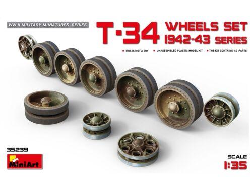 Miniart T-34 Wheels Set 1942-43 Series 1:35 (35239)
