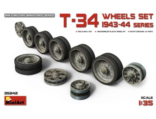 Miniart T-34 Wheels Set 1943-44 Series 1:35 (35242)