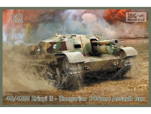 IBG 40/43M Zrínyi II - Hungarian 105mm Assault Gun 1:72 (72051)