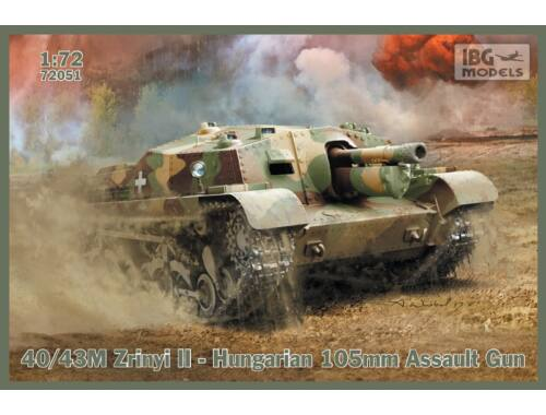 IBG 40/43M Zrínyi II - Hungarian 105mm Assault Gun 1:72 (72051)
