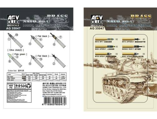 AFV Club M68/L7 105mm Ammunition Model kit 1:35 (AG35047)