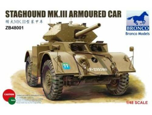 Bronco Staghound Mk.III Armoured Car 1:48 (ZB48001)