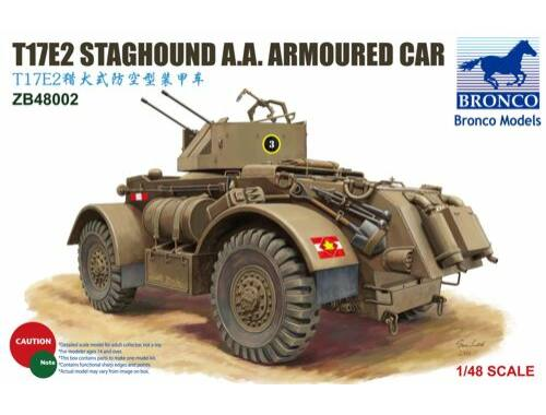 Bronco T17E2 Staghound A.A.Armoured Car 1:48 (ZB48002)