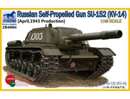 Bronco Russian SPG SU-152, KV-14 (April,1943) 1:48 (ZB48004)