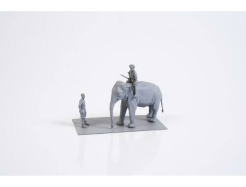 CMK WWII RAF Mechanic in India   Elephant with Mahout (2 fig.   elephant) in 1/72 1:72 (F72327)