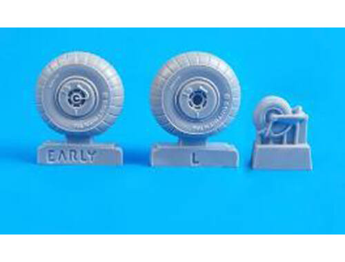 CMK Junkers Ju 88A-1/-5/C-2/-4 – 1/48 Early Mainwheels and Tailwheel for Special Hobby / ICM / Drago