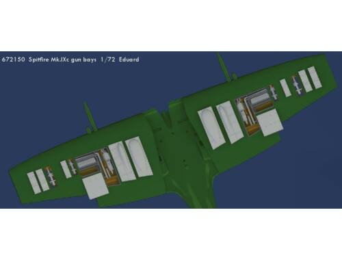Eduard Spitfire Mk.IXc gun bays for EDUARD 1:72 (672150)