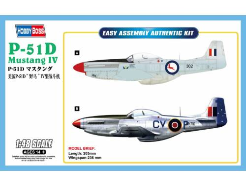 Hobby Boss P-51D Mustang IV Fighter 1:48 (85806)
