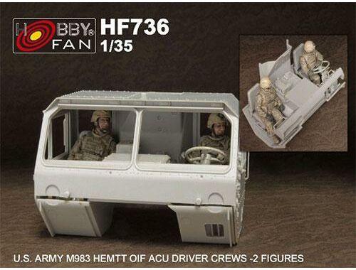 Hobby Fan U.S.Army M983 HEMTT OIF ACU driver crew (2 fig) 1:35 (HF736)