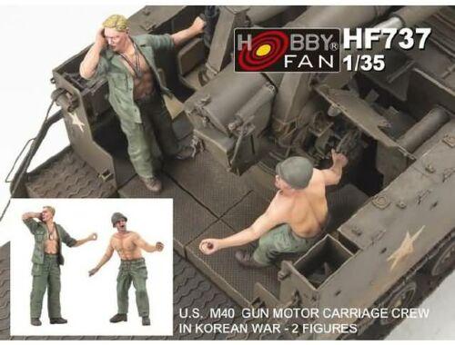 Hobby Fan U.S.M40 Gun Motor Carriage crew i.Korean war (2 fig) 1:35 (HF737)