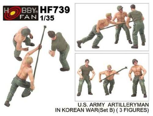 Hobby Fan U.S.Army artillery man in Korean war (set B) (3 fig) 1:35 (HF739)