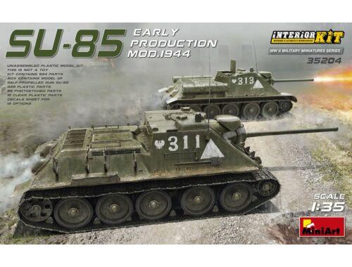 Miniart SU-85 Mod.1944(Early Production)w/Interior 1:35 (35204)