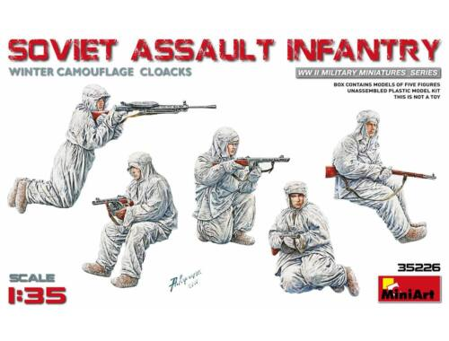 Miniart Soviet Assault Infantry(Winter Camouflage Cloaks) 1:35 (35226)