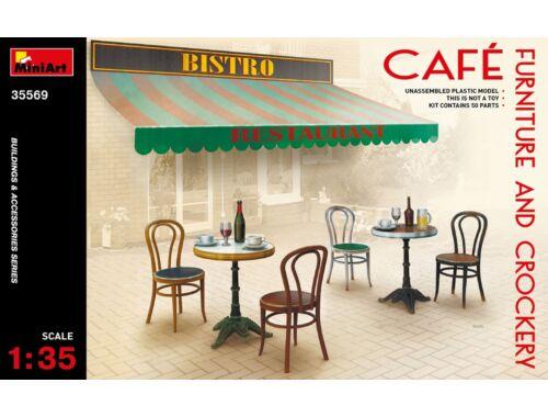 Miniart Café Furniture   Crockery 1:35 (35569)