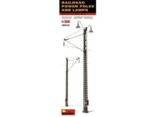 Miniart Railroad Power Poles   Lamps 1:35 (35570)