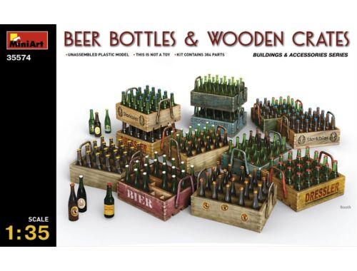 Miniart Beer Bottles   Wooden Crates 1:35 (35574)