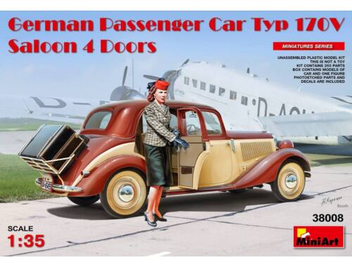 Miniart German Passenger Car Typ 170V.Saloon 4 4 Doors 1:35 (38008)