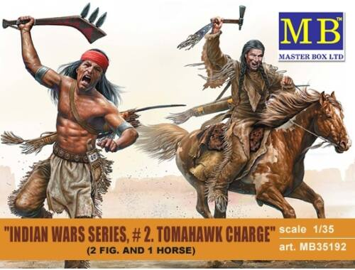 Master Box Tomahawk Charge.Indian Wars Series, kit No.2 1:35 (35192)