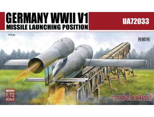 Modelcollect Germany WWII V1 Missile launching positi 2 in 1 1:72 (UA72033)
