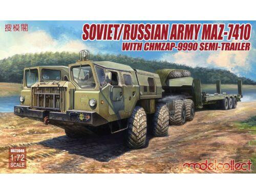 Modelcollect MAZ-7410 w.ChMZAP- -9990 semi-trailer 1:72 (UA72048)