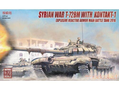 Modelcollect Syrian War T-72BM w.Kontakt-1 reactive armor 1:72 (UA72082)