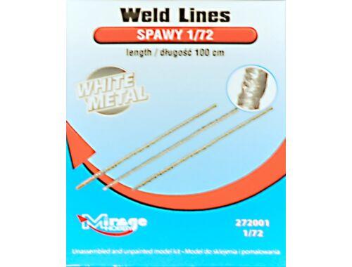 Mirage Hobby Weld Lines length:100cm WhiteMetal 1:72 (272001)