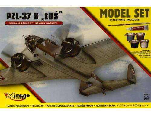 Mirage Hobby PZL-37 B Los Model Set 1:72 (872092)