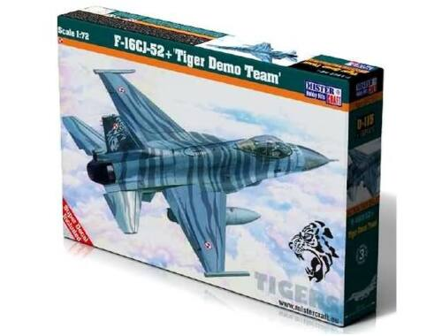 "Mistercraft F-16CJ-52 ""Tiger Demo Team "" NEW 1:72 (D-115)"