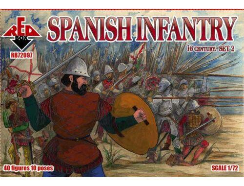Red Box Spanish infantry, 16th century, set 2 1:72 (72097)