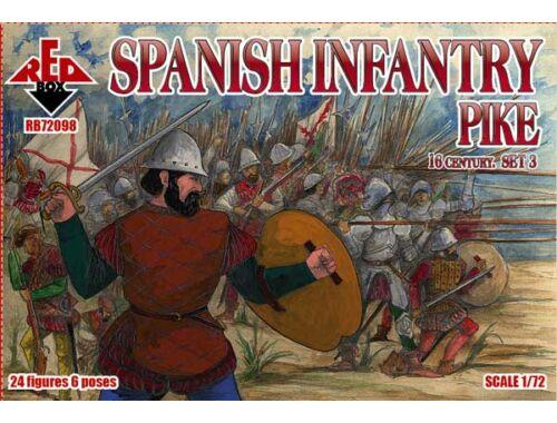 Red Box Spanish infantry(Pike),16th century,set3 1:72 (72098)