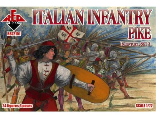 Red Box Italian infantry(Pike),16th century,set3 1:72 (72101)