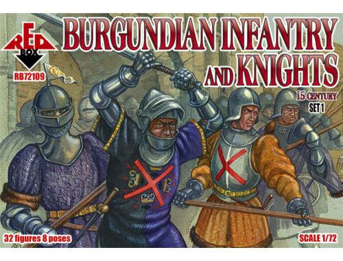 Red Box Burgundian infantry a.knights,15th centu set 1 1:72 (72109)