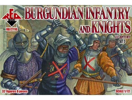 Red Box Burgundian infantry a.knights,15th centu set 2 1:72 (72110)