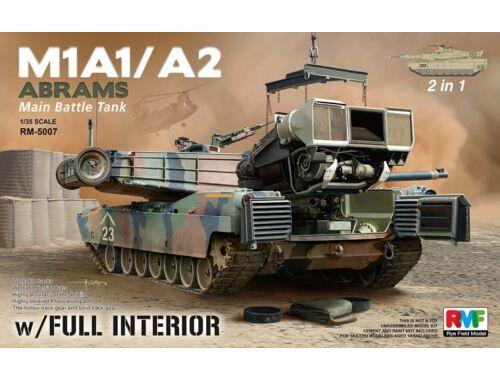 Rye Field Model M1A1/A2 Abrams w/Full Interior 2 in 1 1:35 (5007)