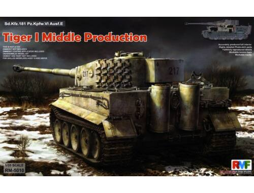Rye Field Model Tiger I Middle Production Full Interior 1:35 (5010)