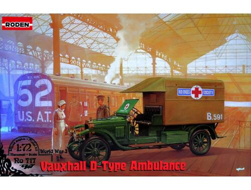 Roden Vauxhall D-type Red cross 1:72 (717)