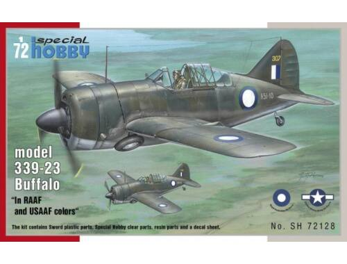"""Special Hobby Buffalo model 339-23""""In RAAF and USAAF colors"""" 1:72 (72128)"""