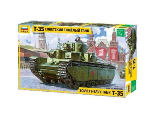 Zvezda T-35 Heavy Soviet Tank Military 1:35 (3667)