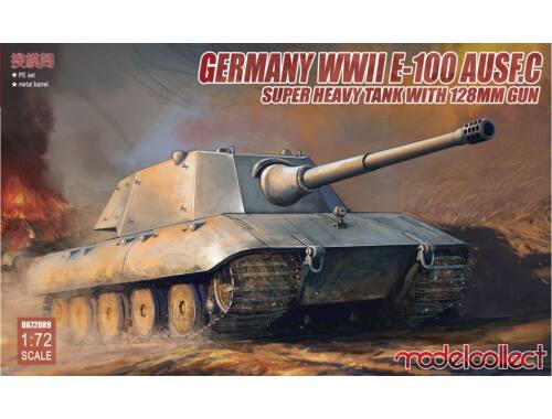 Modelcollect German E-100 Super Heavy Tank w 128 Gun 1:72 (UA72089)