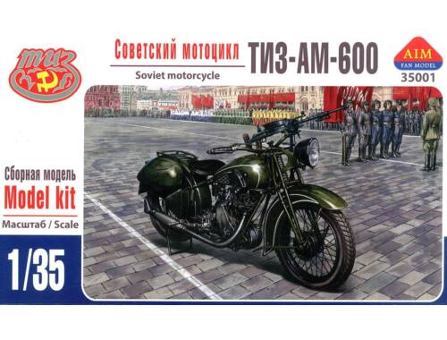 AIM TIZ-AM-600 Soviet motorcycle 1:35 (35001)