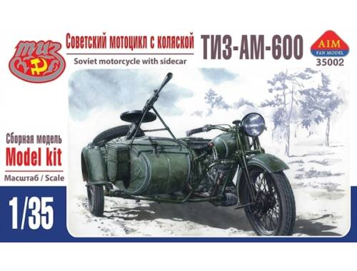 AIM TIZ-AM-600 Soviet motorcycle with sideca 1:35 (35002)