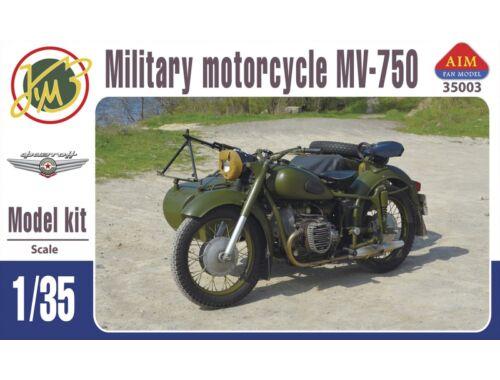 AIM MV-750 Soviet military motocycle with sidecar 1:35 (AIM35003)
