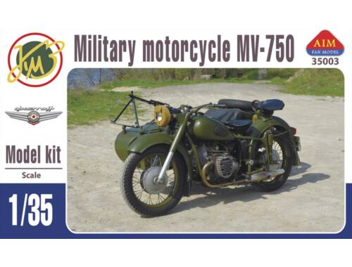 AIM MV-750 Soviet military motocycle with sidecar 1:35 (35003)