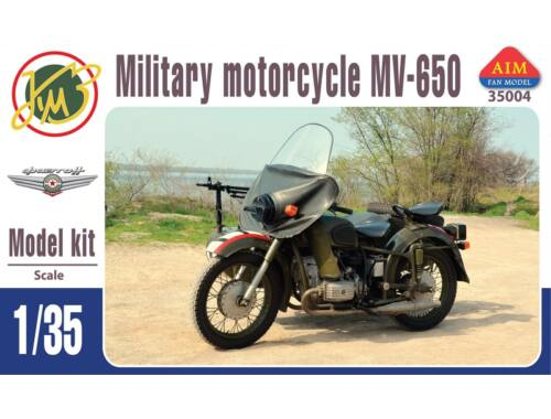 AIM MV-650 military motorcycle 1:35 (AIM35004)