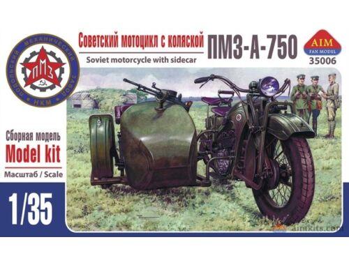 AIM PMZ-A-750 Soviet motorcycle with sidecar 1:35 (AIM35006)