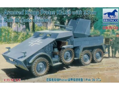 Bronco Armored Krupp Protze Kfz.69 with 3.7cm Pak 36 (late version)1:35 (CB35132)