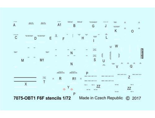 Eduard F6F stencils 1:72 (D72014)